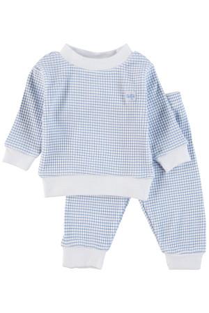 Feetje Pyjama wafel Blue Blue