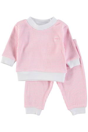 Feetje Pyjama wafel Roze Rose