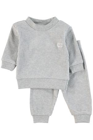 Feetje Pyjama wafel Grijsmelee