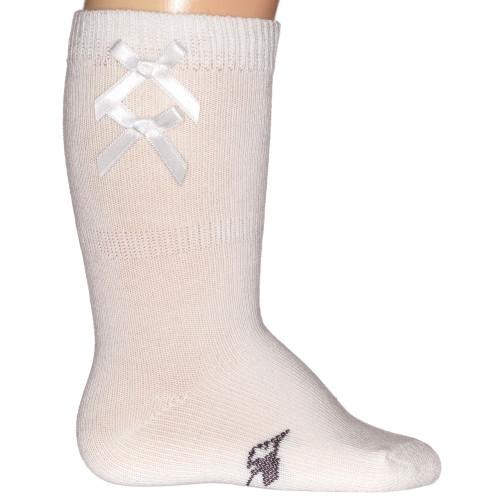 Bonnie Doon Satin Ribbon Knee-High Off White Kniekousen Direct leverbaar uit de webshop van www.humpy.nl/