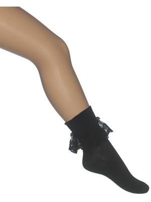 Bonnie Doon Ruffled Lace Sock
